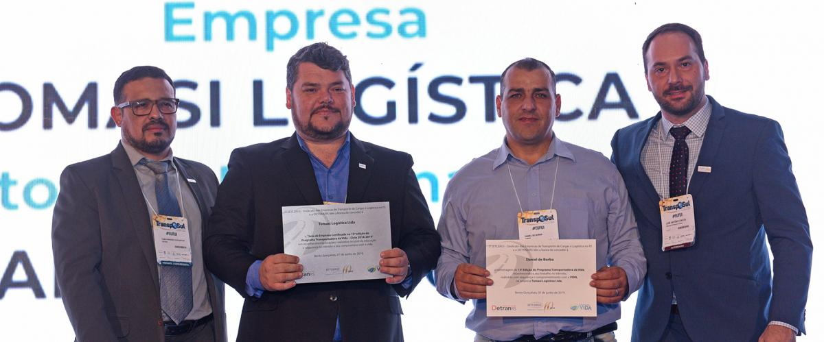 "Tomasi Logística é certificada como ""Transportadora da Vida"""